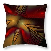 Movement Of Red And Gold Throw Pillow