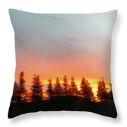 Movement Of The Sky And Forest Trees Throw Pillow