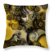 Movement With Venus Throw Pillow
