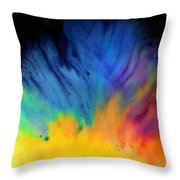 Movements In Color Throw Pillow