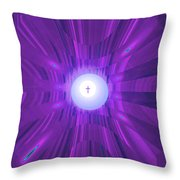 Moveonart Abstract Cross In Purple Throw Pillow