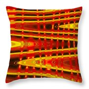 Moveonart Abstract Waves And Light Five Throw Pillow