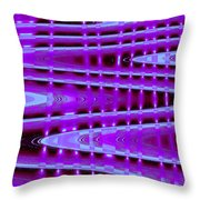 Moveonart Abstract Waves And Light Seven Throw Pillow