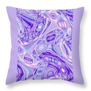 Moveonart Alien Bubble Art Throw Pillow