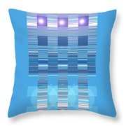 Moveonart Aqua Program Four Throw Pillow