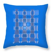 Moveonart  Blue Bricks Throw Pillow