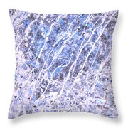 Moveonart Blue Cool Purifying Soul Throw Pillow