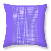 Moveonart Blue Cross Cords Throw Pillow