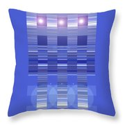 Moveonart Blue Program One Throw Pillow