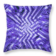 Moveonart Blue Shock Throw Pillow