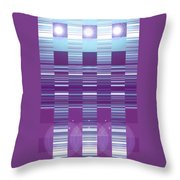 Moveonart Color Duo Program Three Throw Pillow