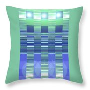 Moveonart Color Duo Program Two Throw Pillow