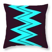 Moveonart Electricaqua Throw Pillow
