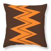 Moveonart Electricorange Throw Pillow
