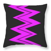 Moveonart Electricpurple Throw Pillow