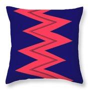 Moveonart Electricred Throw Pillow