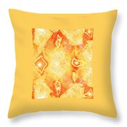 Moveonart Extra Jagged Colored Enlightening Throw Pillow