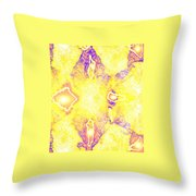 Moveonart Extra Jagged Colored Enlightening Seven Throw Pillow
