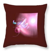 Moveonart Futuristic Cities Of Light Throw Pillow