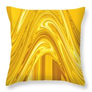 Moveonart Golden Light Wave Throw Pillow