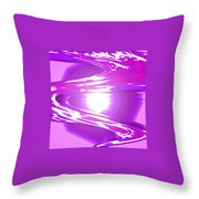 Moveonart I Call Forth The Violet Wave Throw Pillow