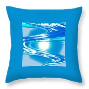 Moveonart Impressive Wave Of Renewal Coming Throw Pillow