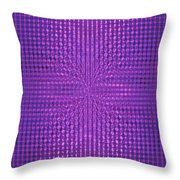 Moveonart Intentionally Intelligently Impressed Violet Therapy One Throw Pillow