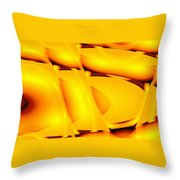 Moveonart Inverted Waves Bubble And Light In Orange Throw Pillow