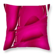 Moveonart Inverted Waves Bubbles And Light In Red Throw Pillow