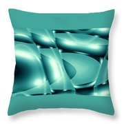 Moveonart Invertes Minimal Wave And Light In Green Throw Pillow