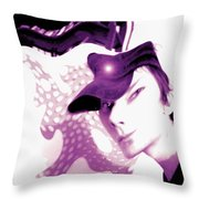 Moveonart Jacob In His Underground Art Gallery Throw Pillow