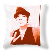 Moveonart Jacob Orange Throw Pillow