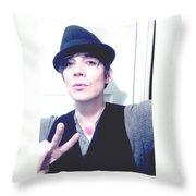 Moveonart Jacob Peace And Love Throw Pillow