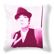Moveonart Jacob Pink  Throw Pillow