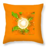 Moveonart Joy With Light In Orange Throw Pillow