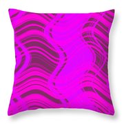 Moveonart Joyful Song Waves Forming  Throw Pillow