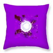 Moveonart Light Saturation With Violet  Throw Pillow