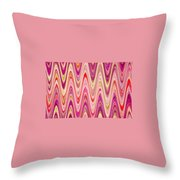 Moveonart Lively Waves Of Joy Throw Pillow