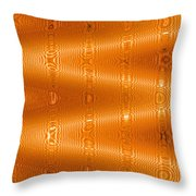 Moveonart Movement In Orange Throw Pillow