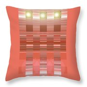 Moveonart Orange Program Seven Throw Pillow