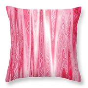 Moveonart Red Dream Frequency Throw Pillow