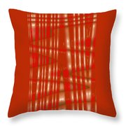 Moveonart Red Gold Protection Throw Pillow