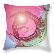Moveonart Renewing  Mind Clear Thought Therapy   Red Throw Pillow