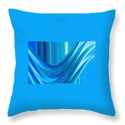 Moveonart The Blue Wave Throw Pillow