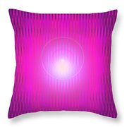 Moveonart The Power Being Pink Throw Pillow
