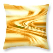 Moveonart They Say The Streets Are Paved With Gold Throw Pillow