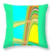 Moveonart Total Increase In Light And Waves Throw Pillow