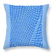 Moveonart Turquoise Knit Throw Pillow