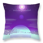 Moveonart Violet Light Of Charitable Consciousness Throw Pillow