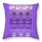 Moveonart Violet Program Two Throw Pillow